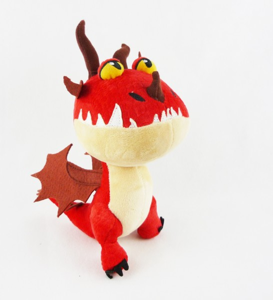 Dreamworks Dragons The hidden world Plüsch ca. 22-25cm - Hakenzahn (rot)