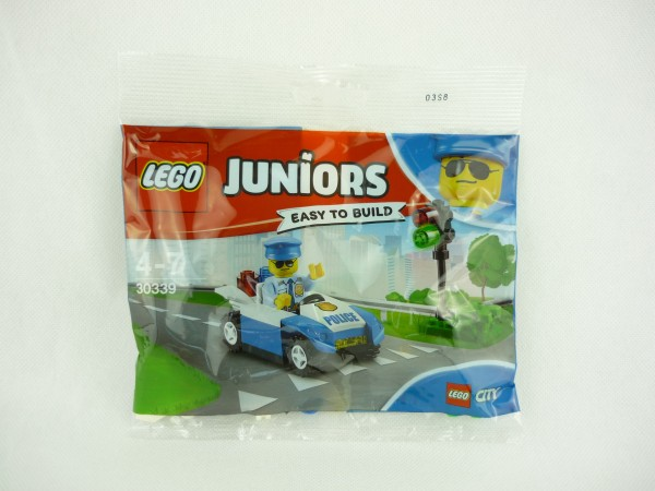 Lego Juniors 30339 Easy to build Traffic Light Patrol Polizeiauto mit Ampel Polybag