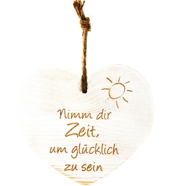 """Vintage-Herz aus Holz """"Nimm Dir Zeit um glücklich zu sein"""" 21016"""