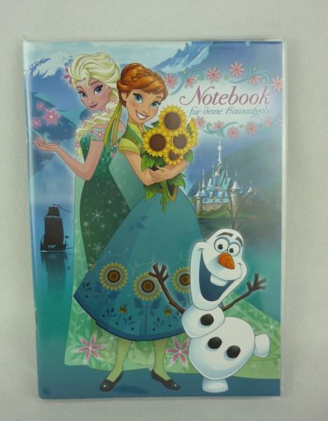 Notebook für deine Hausaufgaben Disney Frozen Anna, Elsa, Olaf - Nester