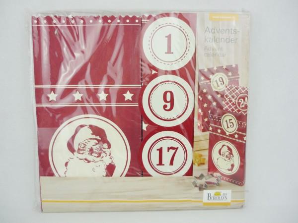 Birkmann 24 dekorative Adventskalender-Tüten zum Selbstbefüllen in rot