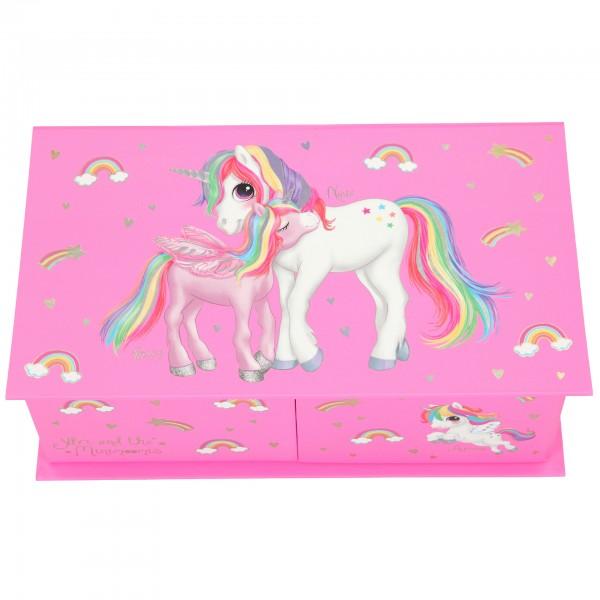 Depesche 11128 Ylvi & the Minimoomis Schmuckbox Einhorn Unicorn rosa