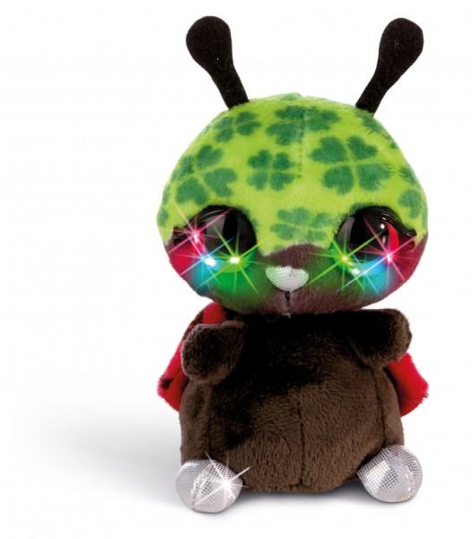 Nici 42476 Blinking Marienkäfer Luckymacky mit LED-Augen ca 12cm Plüsch
