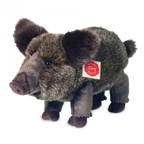 Teddy Hermann 90831 Wildschwein stehend Plüsch Kuscheltier ca. 30cm