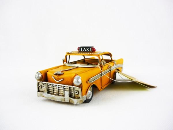 Blechmodell Taxi NY Dekofigur ca 16,5x7x6,5cm RF-Collection 905182