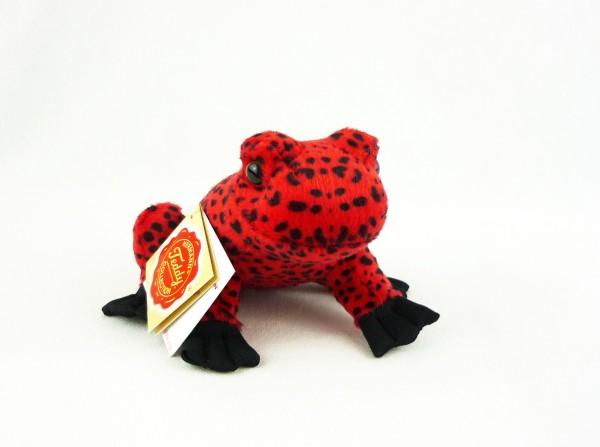 Teddy Hermann 92030 Frosch rot Plüsch Kuscheltier ca 13cm
