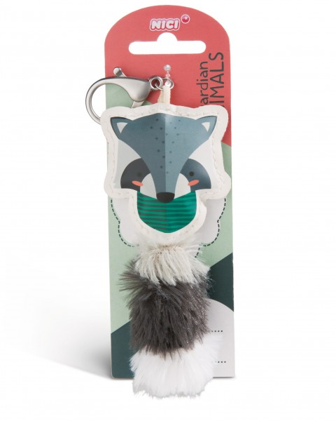 Nici 45588 Guardian Animals Waschbär 12cm Taschenanhänger Kunstleder
