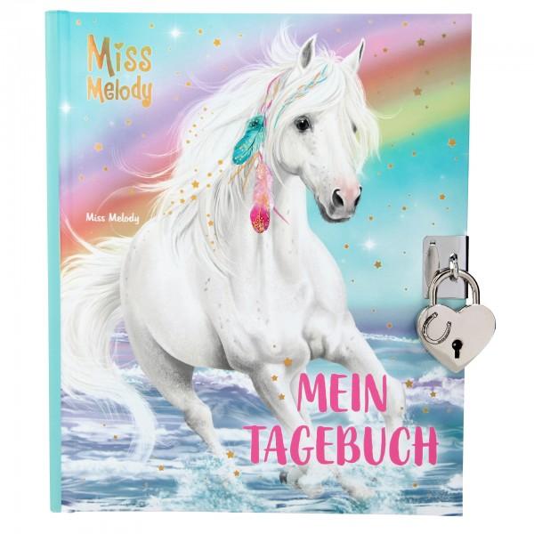 Depesche 11021 weißes Pferd Miss Melody Tagebuch mit Stickern und Schloss