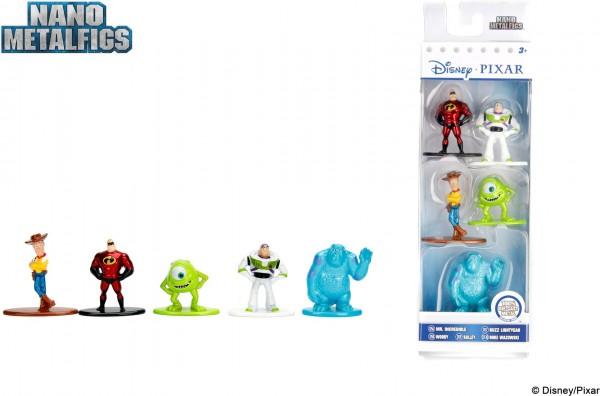 Disney Pixar Nano Metalfigs Collector´s Set 5er-Pack Die-Cast Metal Sammelfiguren