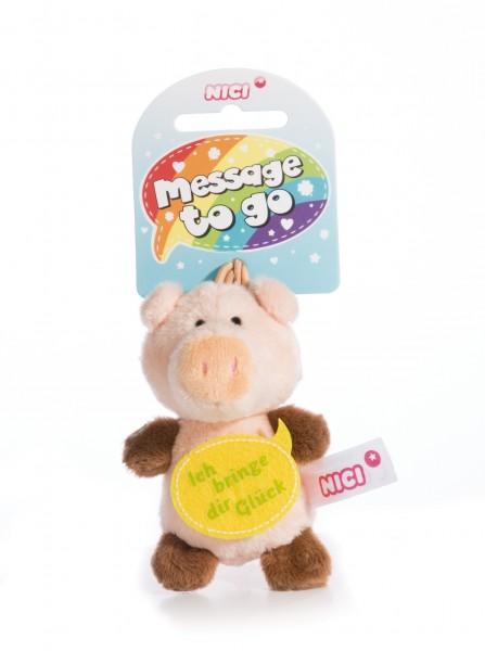 Nici 44869 Message to Go Loop 8cm Schwein – Ich bringe dir Glück