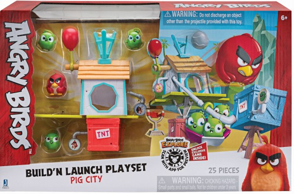 Angry Birds Build'n launch Spielset Pig City mit 25 Teilen ANB0015