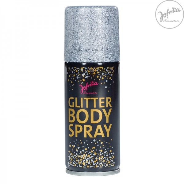 Jofrika Glitter Bodyspray 100ml in 3 Farben (silber, gold, regenbogen)