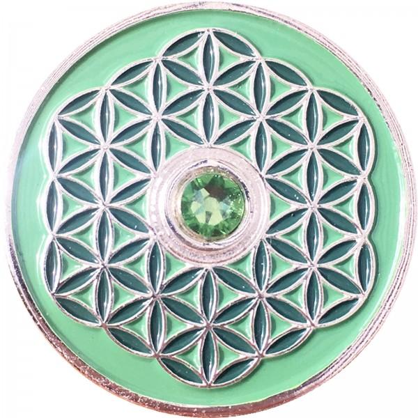 Berk Innere Welten EN-730-4 Taler Blume des Lebens - Gute Besserung!