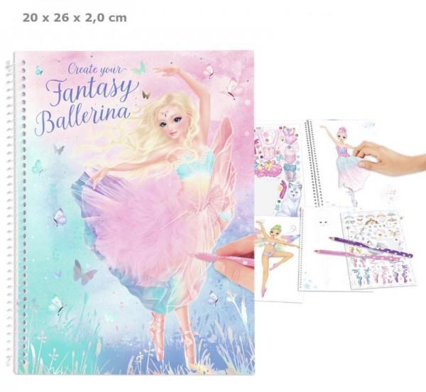 Depesche 11051 Create your Fantasy Model Malbuch mit Stickern Ballett Ballerina