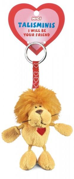 Nici 33684 Schlüsselanhänger Löwe beige 7cm Talisminis Plüsch