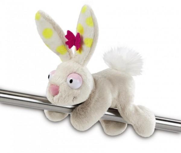 Nici MagNici 39115 Weißer Hase Rabbit Plüsch 12cm mit Schmetterling Spring