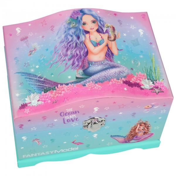 Depesche 10948 Fantasy Model Schmuckschatulle mit Licht Meerjungfrau Mermaid
