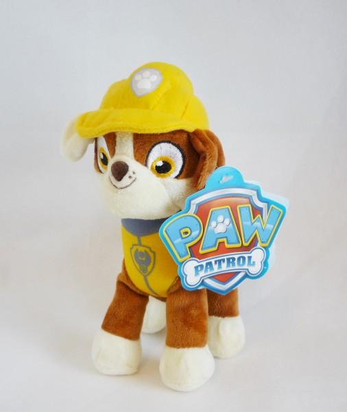 Paw Patrol Hund Plüsch Kuscheltier ca. 19cm - Rubble (gelb) L50