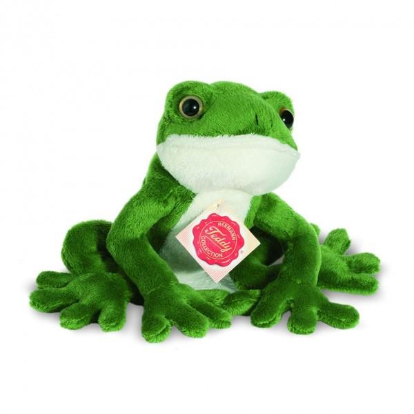 Teddy Hermann 92020 Frosch sitzend ca. 15cm Plüsch Kuscheltier