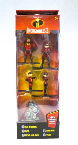 Disney Incredibles 2 Nano Metalfigs 5er-Pack Die-Cast Metal Sammelfiguren 99867