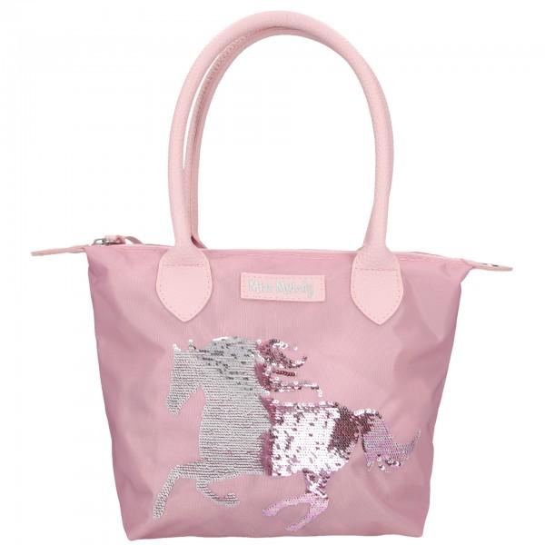 Depesche 10627 Pferd Miss Melody Handtasche Streich -Pailletten rosa