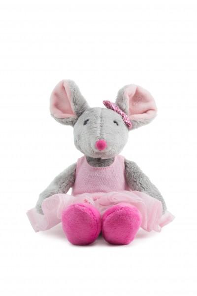 Schaffer 5652 Ballett-Maus mit rosa Tutut Plüsch Kuscheltier ca 26cm