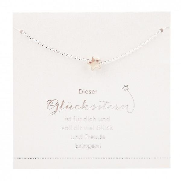 Halskette mit Stern-Anhänger ...Glücksstern für Glück & Freude Depesche 8699