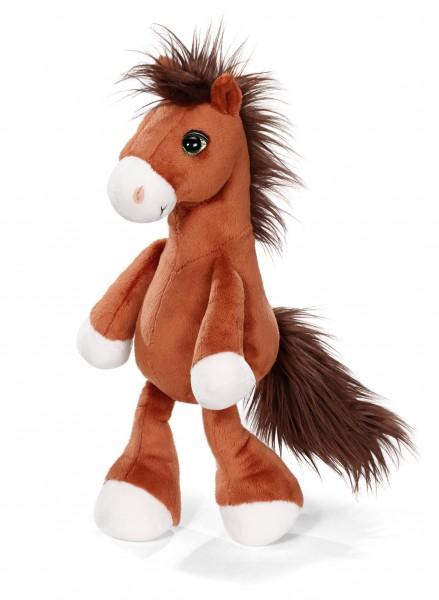 Nici 40571 braunes Pferd Flower ca 25cm Plüsch Kuscheltier Soul Mates