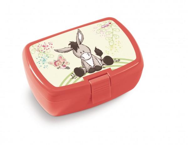 Nici 45446 Brotdose Lunchbox Esel & Schmetterling Hello Spring