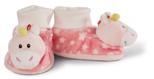 My first Nici 43655 Babyschuhe Einhorn Stupsi mit Rassel Plüsch rosa