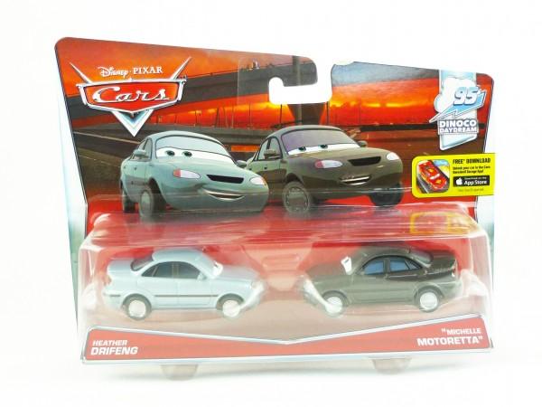 "Disney Cars Die Cast 2er-Set Heather Drifeng & ""Michelle Motoretta"" DHL18"