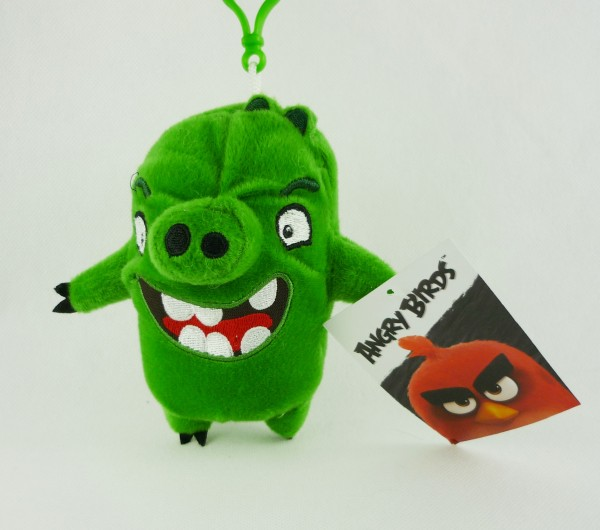 Angry Birds BagClip Anhänger Plüsch Leonard grün ca 14cm
