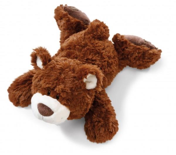 Nici 41498 Bär kleiner Bruder Classic Bear dunkelbraun liegend ca 20cm Plüsch