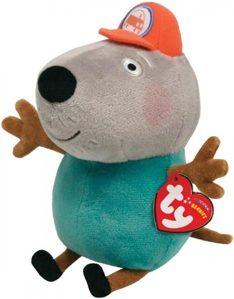 TY Beanie Babies Peppa Pig Wutz Opa Kläff ca 15cm Plüsch Kuscheltier