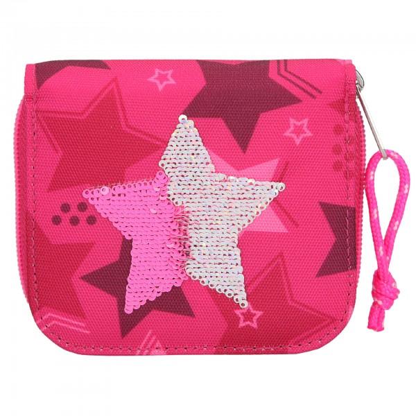 Depesche 10719 TOPModel Portemonnaie Geldbörse Streichpailletten Stern pink