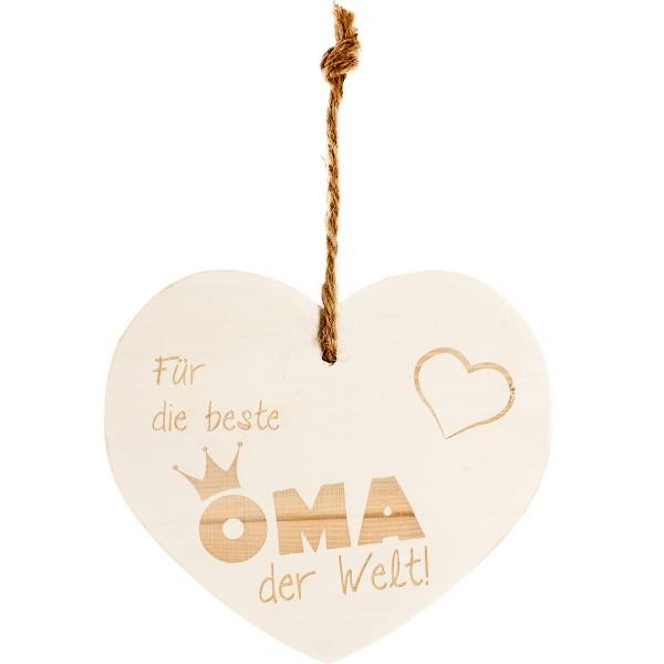 """Vintage-Herz aus Holz """"Für die beste Oma der Welt"""" 21122"""