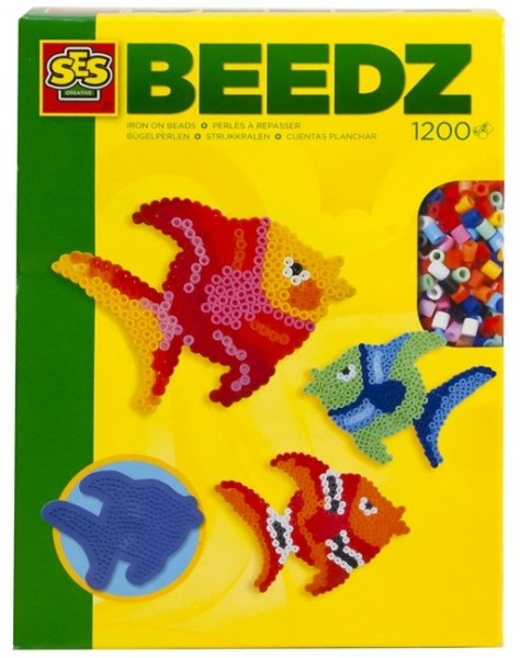 SES Creative Beedz Bügelperlen 1200 Stück Kreativset Fische