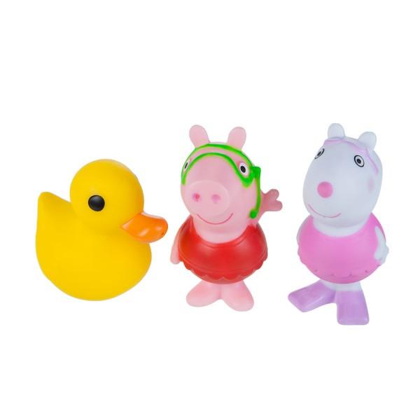 Jazwares 92682 Peppa Pig Wutz Badespritzer Badespaß Freunde Peppa, Luzie, Ente