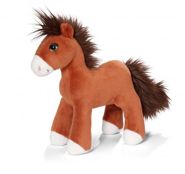 Nici 40572 braunes Pferd Flower stehend ca 25cm Plüsch Kuscheltier Soul Mates