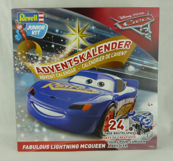 Revell Junior Kit 01012 Disney Pixar Cars 3 Adventskalender Lightning McQueen