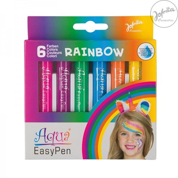 Jofrika Aqua Easy Pen Rainbow Schminkset 708797 Kinderschminke wischfest wasserlöslich