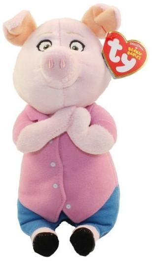 TY Beanie Babies SING Schwein Rosita ca 22cm Plüsch Kuscheltier