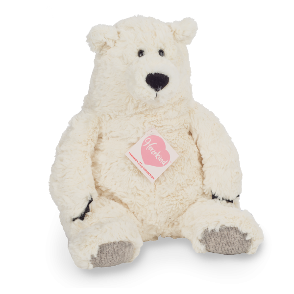 Teddy Hermann 93876 Polarbär Bridget Herzekind Plüsch Kuscheltier ca 34cm