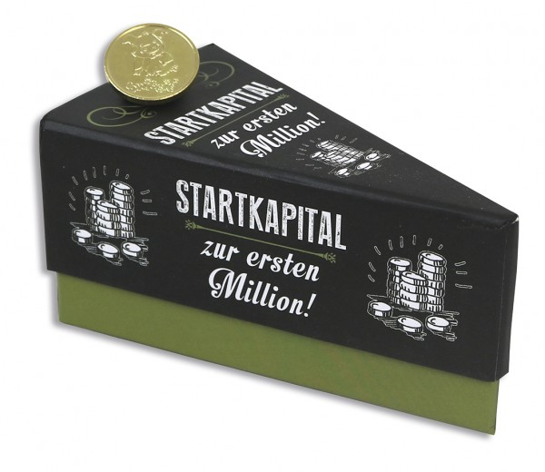 Geschenkschachtel Tortenstück - Startkapital zur ersten Million 1294