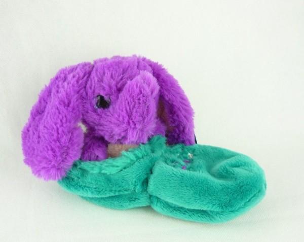 Minimoomis Depesche 6123 lila Elefant Doodo im Schlafsack ca 19cm Kuscheltier