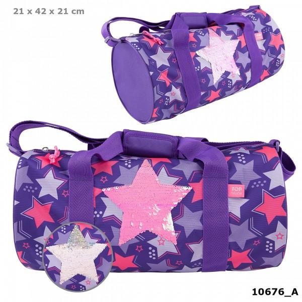 Depesche 10676 TOPModel Sporttasche Streichpailletten Sterne lila