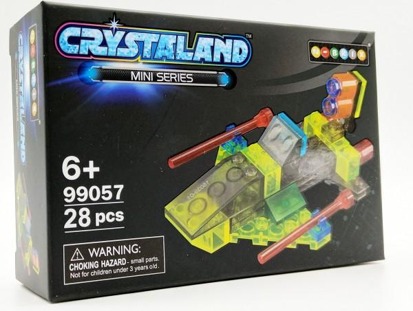 N-Brix Crystaland Mini Series Bausteine - 99057 Kampfjet (28 Teile)