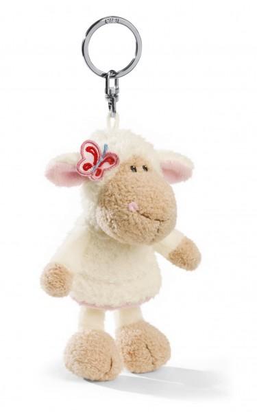 Nici 32511 Schlüsselanhänger Schaf Jolly Elsa mit Blume ca 10cm Plüsch