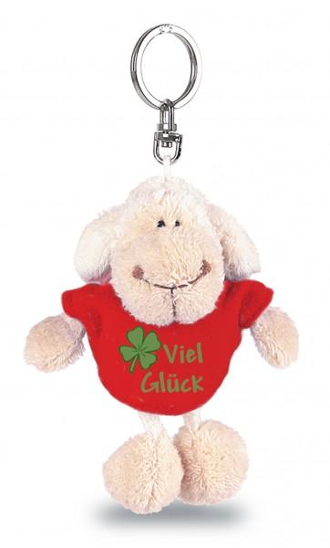 """Nici 31556 Schlüsselanhänger Schaf mit Tshirt """"Viel Glück"""" ca 10cm Plüsch"""