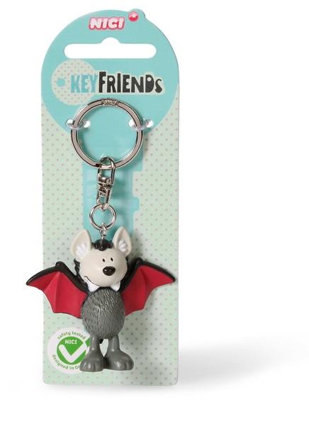 Nici 37507 Keyfriends Schlüsselanhänger Fledermaus Sir Simon ca 5cm PVC Figur